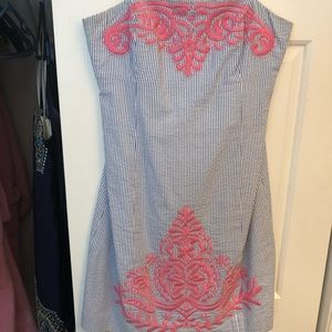Lilly Pulitzer strapless striped dress